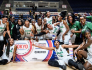D'Tigress team after qualifying for the now postponed Tokyo Olympics.