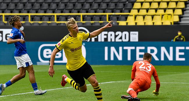 Haaland Scores First Post-Lockdown Goal In Bundesliga