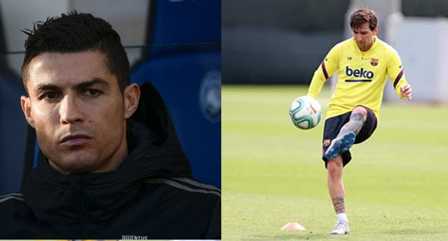 A file photo combination of Juventus star, Cristiano Ronaldo and Barcelona playmaker, Lionel Messi.