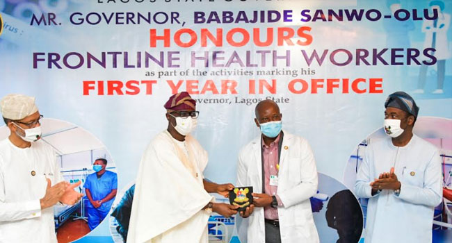PHOTOS: Sanwo-Olu Dedicates First Year In Office To Frontline Workers
