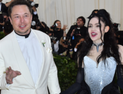 In this file photo taken on May 7, 2018 Elon Musk and Grimes arrive for the 2018 Met Gala, at the Metropolitan Museum of Art in New York. ANGELA WEISS / AFP