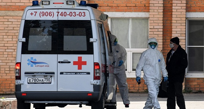 Russia Says COVID-19 Cases Under 9,000 For First Time Since May 1