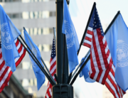 In this file photo taken on September 23, 2019 flags of the United Nations and the United States of America are seen in New York City. Angela Weiss / AFP