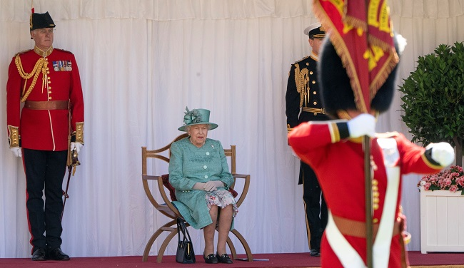Queen Marks Official Birthday With Scaled-Back Parade At Windsor