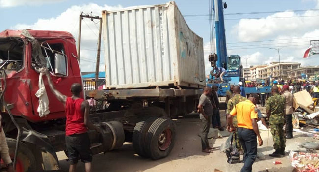 PHOTOS: Five Confirmed Dead, Others Injured In Anambra Road Accident