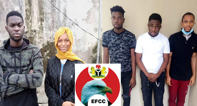 EFCC Busts Famous Skit Maker, Four Others Over Internet Fraud