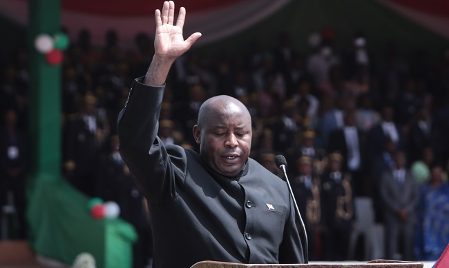 Burundi's Evariste Ndayishimiye Sworn In As New President