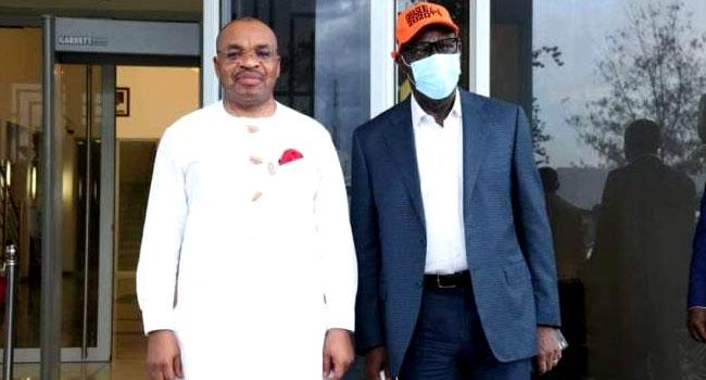 Obaseki Visits Akwa Ibom Governor