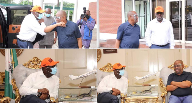 PHOTOS: Obaseki Visits Wike In Port Harcourt