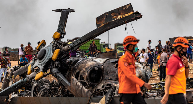 Four Soldiers Killed In Indonesia Helicopter Crash