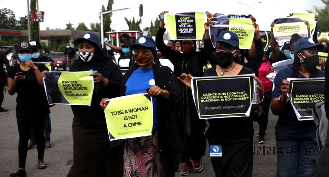 PHOTOS: Youths Protest In Abuja, Condemn Sexual Violence