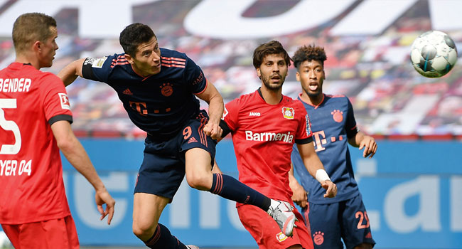 Bayern close in on title with win at Leverkusen