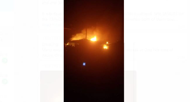 Fire Engulfs Several Shops, Houses In Akure