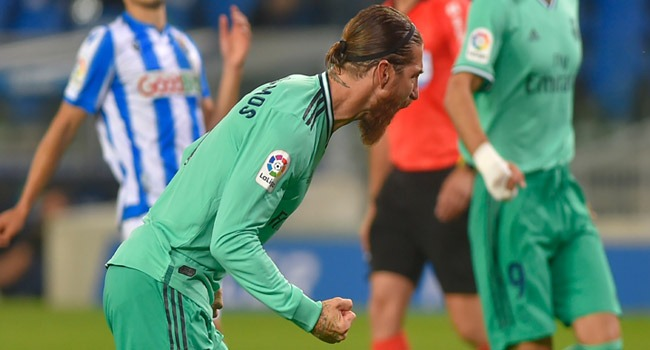 Ramos Injured But Madrid Go Top After Edging Out Real Sociedad