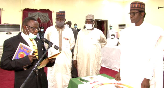 Yobe Governor Swears In Acting Chief Judge