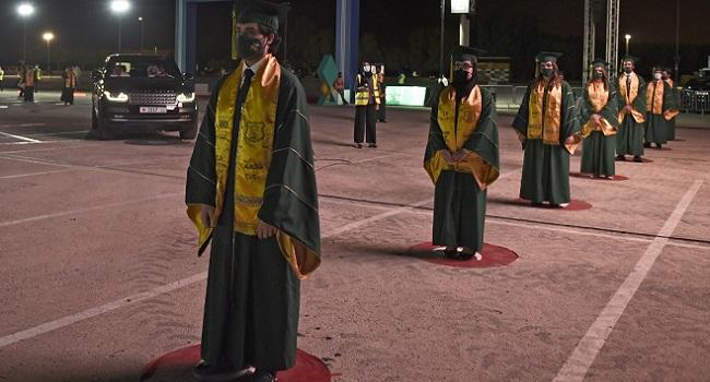 Bahrain School Holds Graduation On F1 Circuit