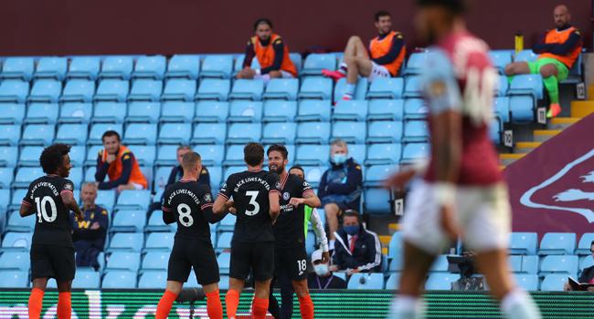 Giroud Strike Hands Chelsea Narrow Win Over Villa