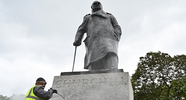 London Churchill Statue To Be Uncovered Before Macron Visit