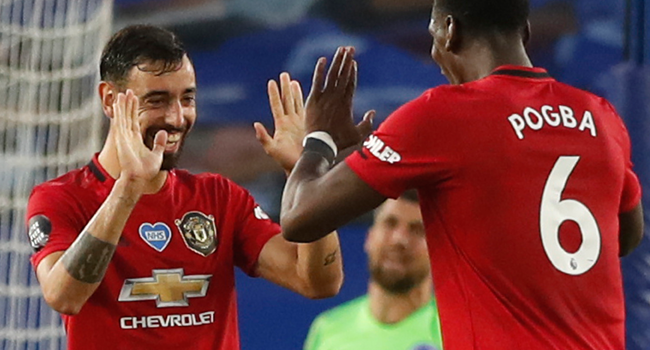 Fernandes Nets Brace As Man Utd Beat Brighton