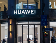 This photo taken on June 23, 2020 shows a Huawei global flagship store ahead of its opening in Shanghai. STR / AFP