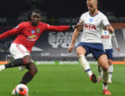 Manchester United's French midfielder Paul Pogba (L) vies for the ball against Tottenham Hotspur's English defender Eric Dier (R) during the English Premier League football match between Tottenham Hotspur and Manchester United at Tottenham Hotspur Stadium in London, on June 19, 2020. Shaun Botterill / POOL / AFP
