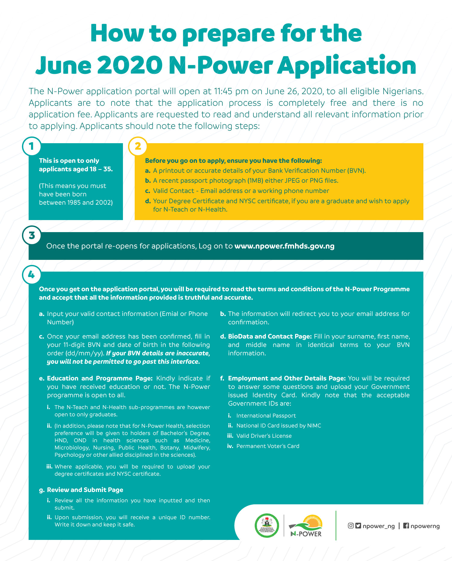 npower 2020 application