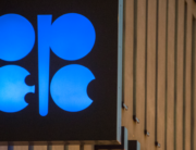 In this file photo taken on November 29, 2016, the logo of OPEC is pictured at the OPEC headquarters on the eve of the 171th meeting of the Organization of the Petroleum Exporting Countries in Vienna, Austria. JOE KLAMAR / AFP