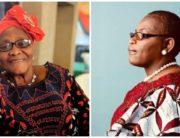 A photo combination of late Mrs. Cecilia Nwayiaka Ujubuonu and her daughter, Oby Ezekwesili.