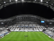 This file photo taken on October 20, 2019 shows the Velodrome Stadium prior to the French L1 football match between Olympique de Marseille (OM) and Racing Club de Strasbourg Alsace (RCS) in Marseille, southern France. Boris HORVAT / AFP