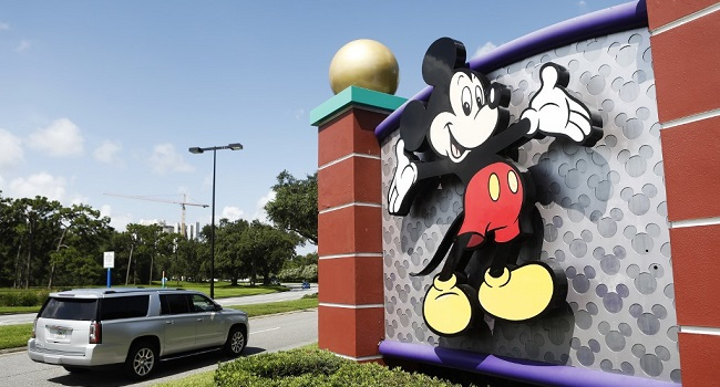 A view of Mickey Mouse at the Walt Disney World theme park entrance on July 9, 2020 in Lake Buena Vista, Florida. Octavio Jones/Getty Images/AFP