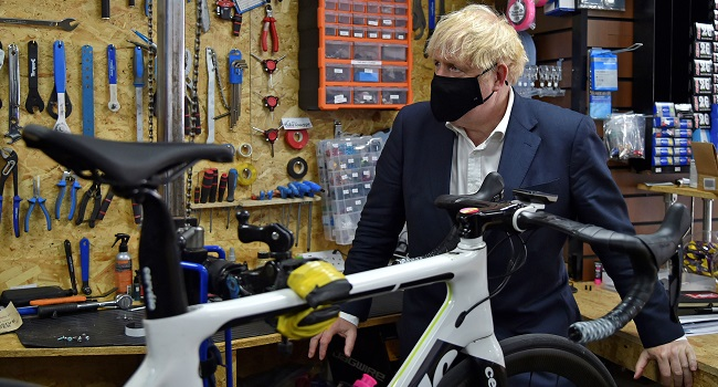 Johnson Wants Britons To Cycle Way Out Of Lockdown