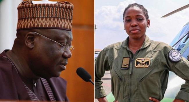 Senate President Mourns Nigeria's First Female Combat Copter Pilot