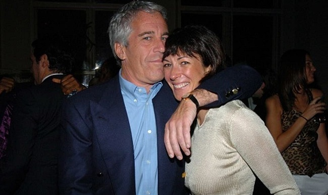 Jeffrey Epstein and Ghislaine Maxwell at a New York function in 2005