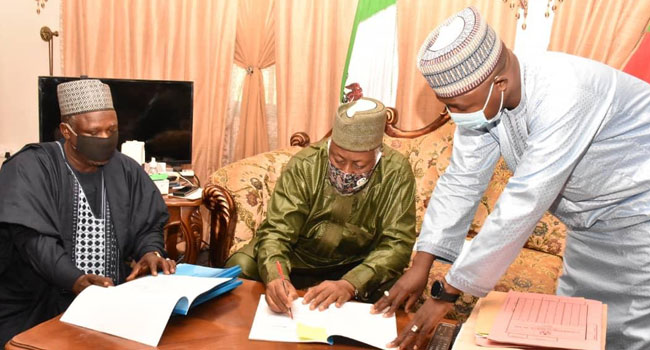 Jigawa Governor Signs Revised 2020 Budget