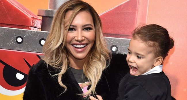Naya Rivera and son Josey Hollis Dorsey arrive for the premiere of 'The Lego Movie 2: The Second Part' in California. File/ AFP