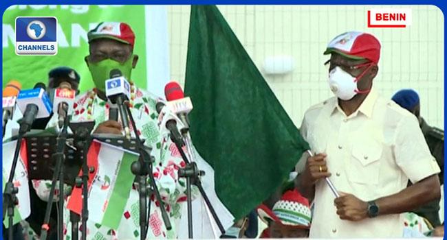 Obaseki, Shaibu Kick Off Re-Election Campaign, Promise To Make Edo Nigeria's Economic Hub