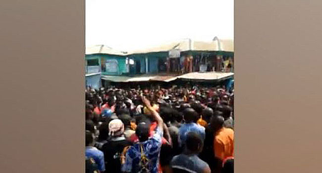 Imo Youths Protest As Policeman Kills Motorcyclist Over N50 Bribe