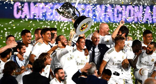 Real Madrid Win 34th La Liga Title – Channels Television