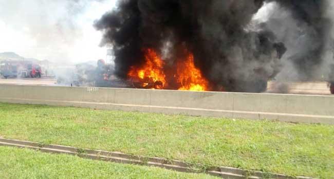 Tanker Explodes In Abuja, Injures One