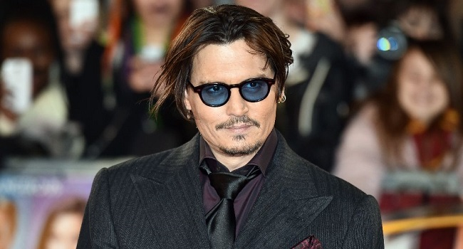 US actor Johnny Depp arrives for the UK premiere of the film 'Mortdecai' in London on January 19, 2015 (AFP Photo /Leon Neal)
