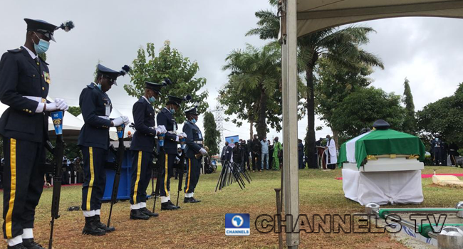 Tolulope Arotile, Nigeria's first female combat helicopter pilot, was buried in Abuja on July 23, 2020.