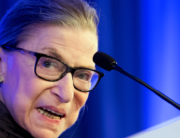 In this file photo taken on May 21, 2018 US Supreme Court Justice Ruth Bader Ginsburg speaks after receiving the American Law Institute's Henry J. Friendly Medal in Washington, DC,. JIM WATSON / AFP