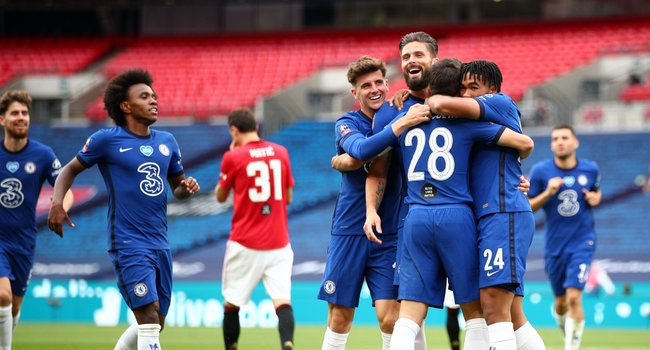 Chelsea Bash Man United To Book FA Cup Final Date With Arsenal