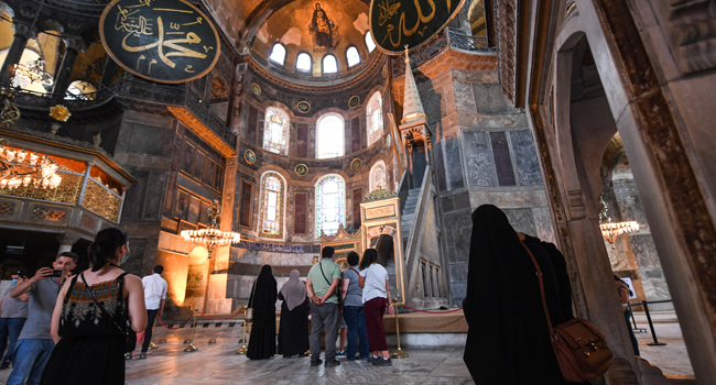 Turkey Converts Hagia Sophia To Mosque As Christians Kick