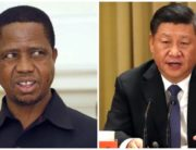 A photo combination of Zambia's President Edgar Lungu and Chinese President, Xi Jinping, created on July 21, 2020.