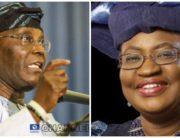 A photo combination created on July 11, 2020, of former Vice President Atiku Abubakar and former finance minister, Dr. Ngozi Okonjo-Iweala.