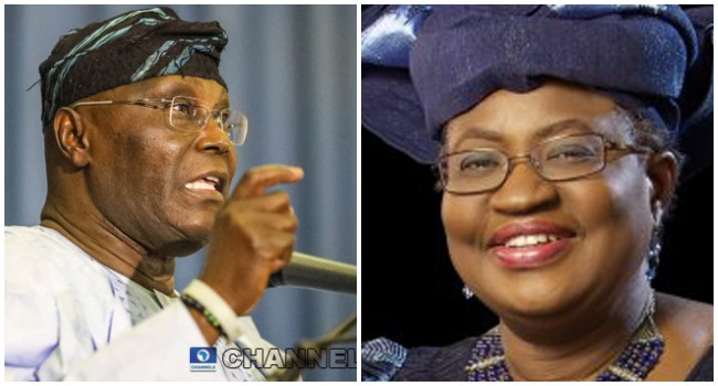 Atiku Endorses Okonjo-Iweala For WTO Job