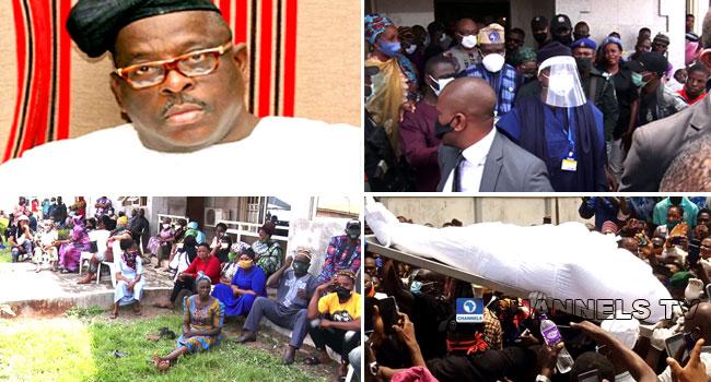 PHOTOS: Buruji Kashamu Buried Amid Tears In Ijebu Igbo