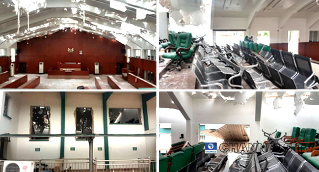 PHOTOS: What Edo Assembly Legislative Chamber Looks Like After Rooftop Removal