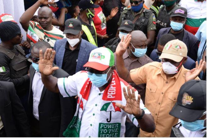 Vote Obaseki Because He Resisted Godfatherism, Wike Tells Edo People